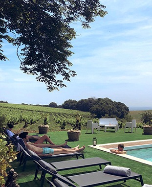 Chateau de Tauzies_Piscine dans les vignes