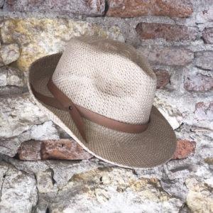 Chapeau avec bande en cuir recyclé du tarn